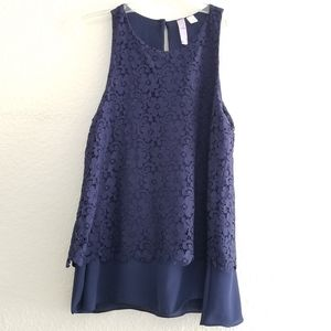 Alya Layered Top Blue Size S